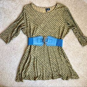 Soft & Stretchy Striped Tunic AND Belt Set